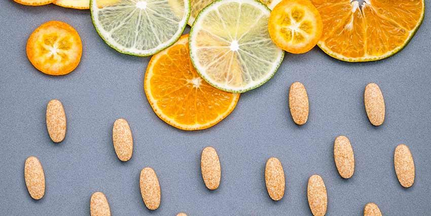 柑橘系フルーツとサプリ