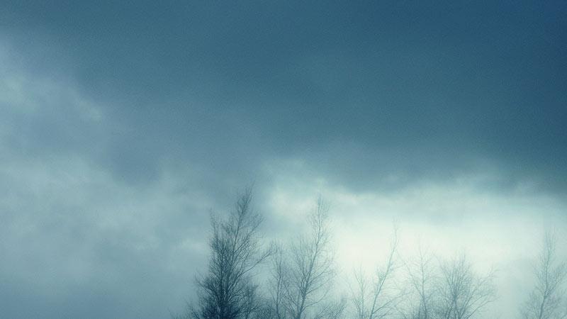 どんよりした空